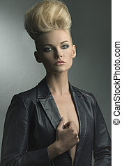 woman with fashion hair-style
