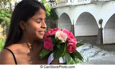 Woman with Flowers, Women