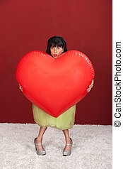 Woman With Giant Heart