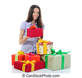 Woman with gifts