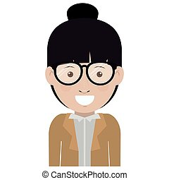Woman with glasses design