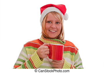 Woman with glogg