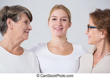 Woman with grandmother and mother