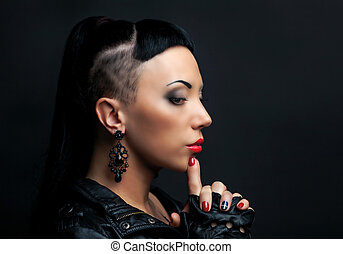 woman with haircut