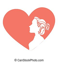 woman with heart card
