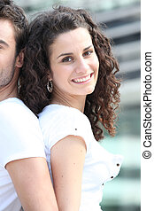 Woman with her boyfriend