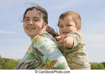 Woman with her child