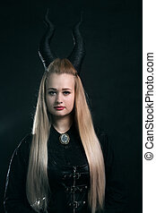 Woman with horns