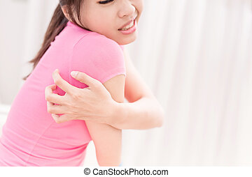 woman with itchy skin