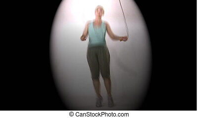 woman with jump rope - Woman with jump rope