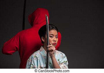 Woman with katana