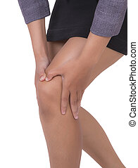 Woman with knee pain