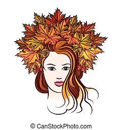 Woman with Leaf Wreath