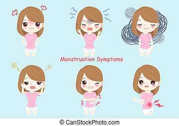 woman with Menstruation