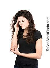 Woman With Migraine Headache Pain