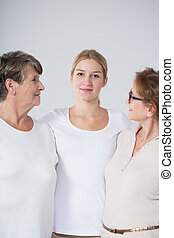 Woman with mother and grandmother