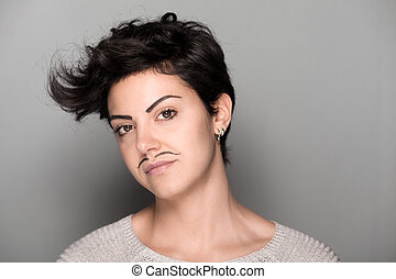 Woman with Mustaches