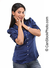 woman with nice expression