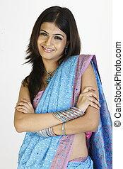 Woman with nice sari