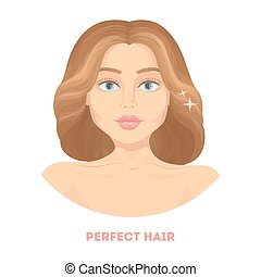 Woman with perfect hair.