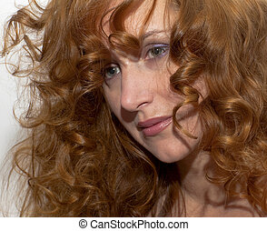 Woman with red hair . Portrait