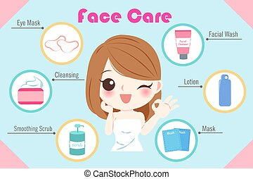 woman with skin care concept