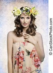 woman with spring style