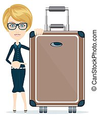 Woman with suitcase
