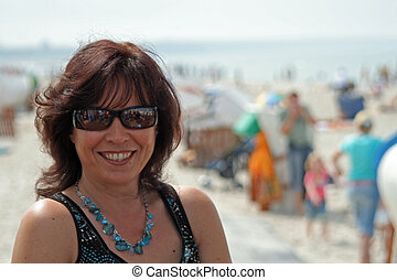 woman with sunglasses,