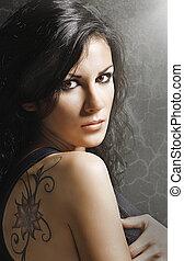 Woman with tatoo