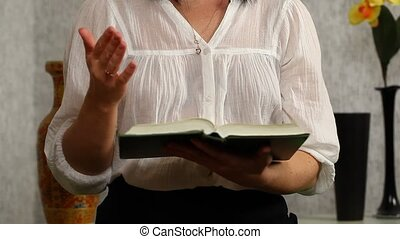 Woman read and discuss with the Bible in the hands episode 1
