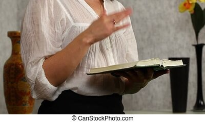 Woman read and discuss with the Bible in the hands episode 3