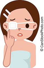 woman with the eyepatch - Vector illustration.