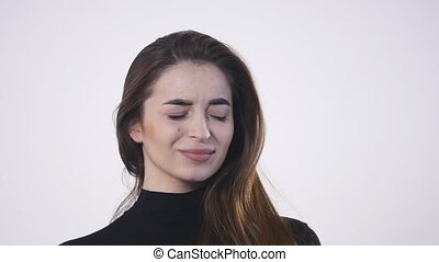 Woman with throat problem ill isolated