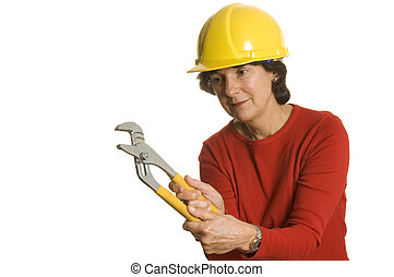 woman with tools