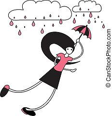 woman with umbrella.eps