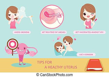 woman with uterine
