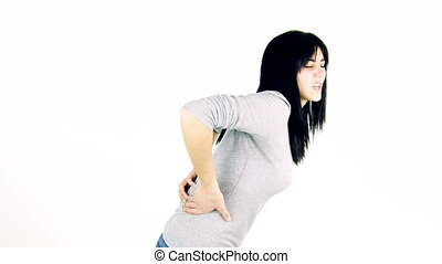 woman with very bad back pain