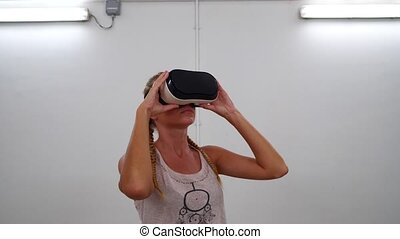 Woman with VR glasses