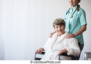 Woman with walking disability
