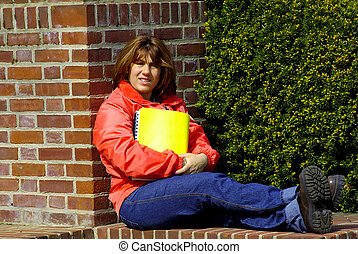 Woman With Yellow Folder