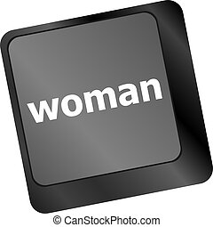 woman word on keyboard key button