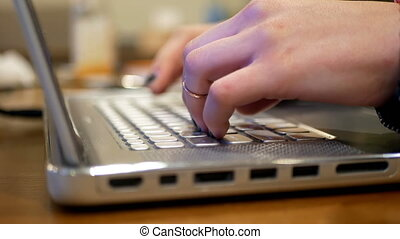 Woman working laptop