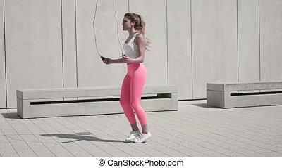 Woman Working Out Outdoors
