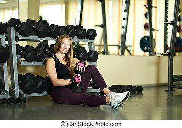 woman workout at gym