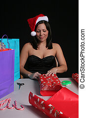 Woman wrapping
