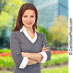 woman., wykonawca, handlowy