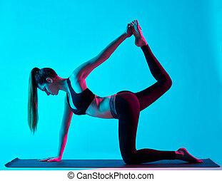 woman yoga exercices