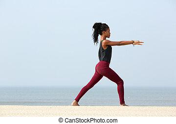 Woman yoga exercise