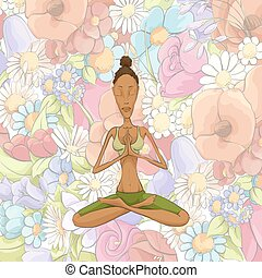 Woman yoga meditating